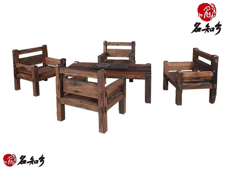 古船木方茶桌五件套08_红木家具_云商网