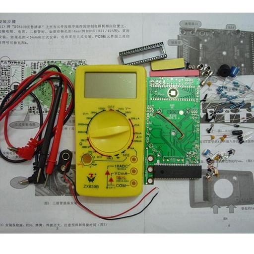 dt830b便携式数字万用表套件