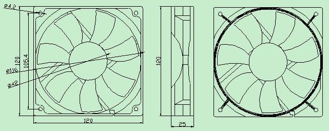 供应sl-rdm12025无刷散热风扇直流风扇12厘米散热风扇