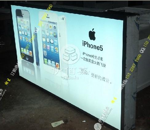最新苹果高端弹力灯箱,苹果形象背景灯箱,苹果装修公司