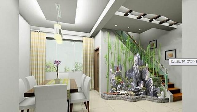深圳罗湖假山鱼池景观设计,免费效果图.