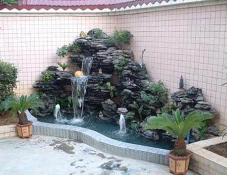 深圳龙岗流水假山鱼池景观设计