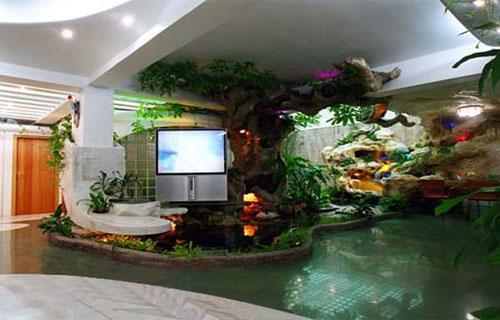 深圳假山鱼池设计 精心设计高清图片