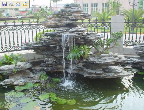 设计 深圳/深圳流水假山鱼池、水幕墙、景观设计.