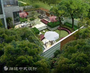 中式别墅庭院景观设计腾远中式
