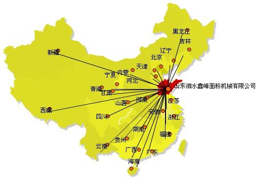 山东泗水鑫峰面粉机械销售网络遍布全国