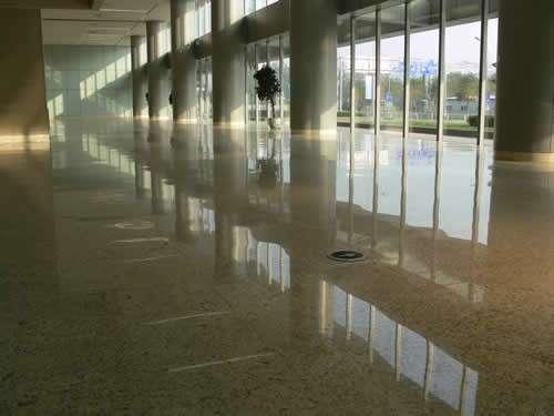 车间 学校超市水磨石地面装修设计高清图片