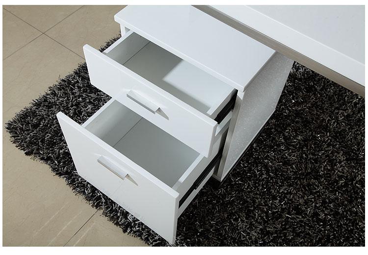 欧式钢琴烤漆u型不锈钢电脑书桌