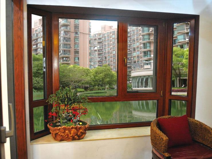 铝木门窗_铝木复合门窗_断桥安全门窗