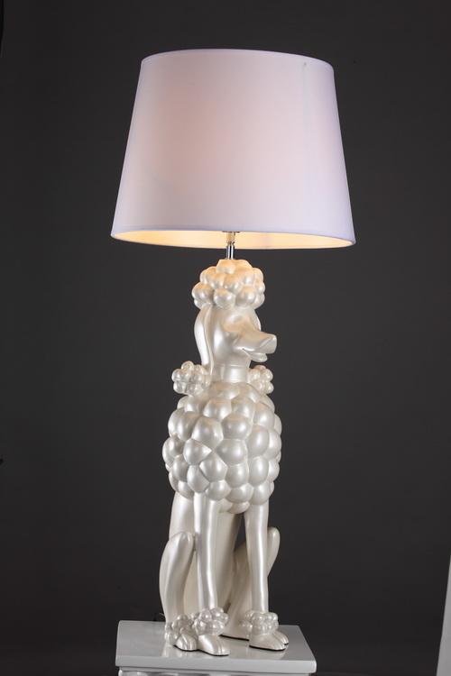 正品铭星树脂动物系列富贵狗台灯后现代台灯简约现代卧室灯