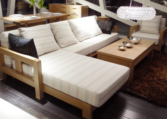 北欧篱笆厂家直销北欧现代风格实木沙发转角沙发贵妃卧沙发
