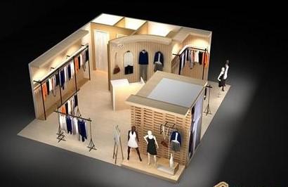 服装店装修设计服装 连锁专卖店装修施工 商务办公室装修设计施工图片