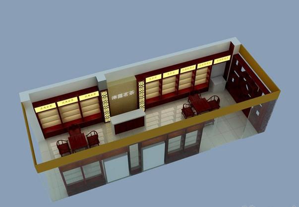 专业商业装修装饰设计 茶叶店装修设计  茶叶店设计风格:  中式仿古