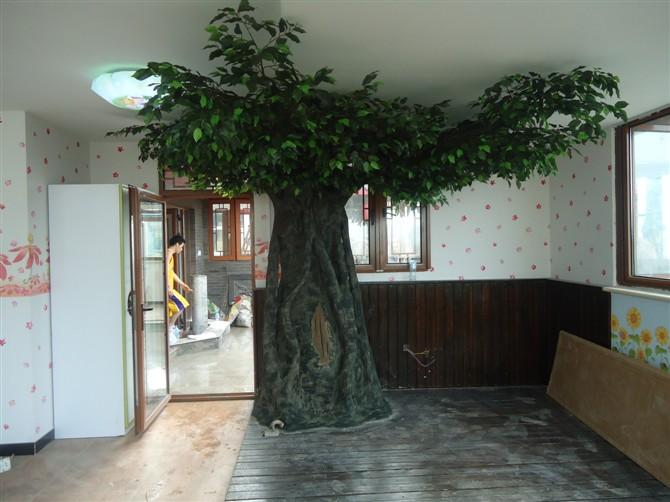 大型景观假树定做北京仿真桃花树许愿树定做