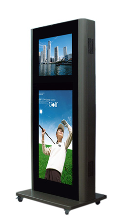 液晶广告机、65寸户外分屏立式广告机数字标牌-液晶广告机 7 19寸车