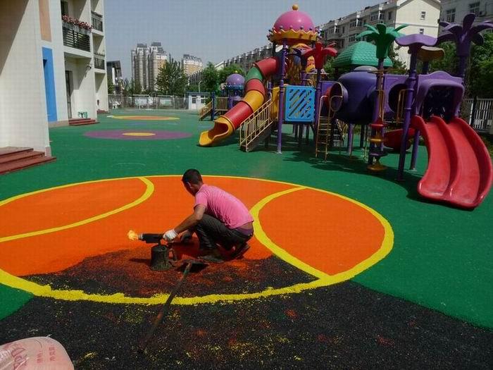 威海幼儿园室外地面铺装-epdm塑胶