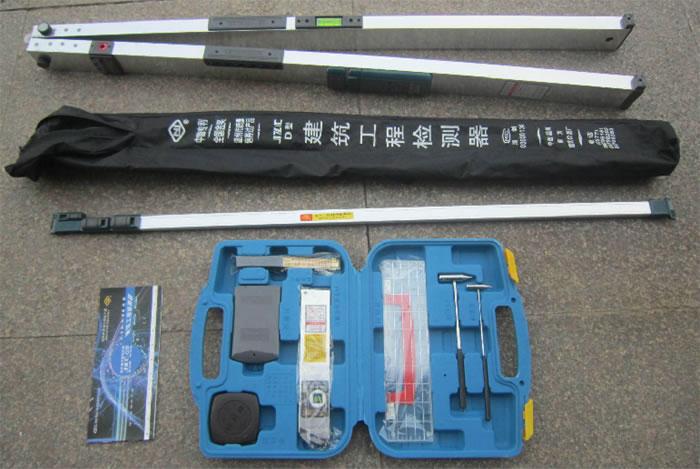 广州2米工程检测尺广州工程质量检验器2米靠尺多功能建筑工程检测包