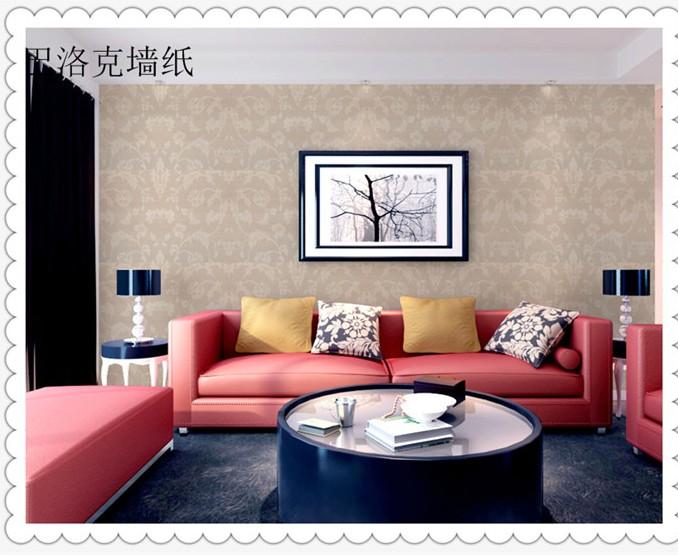欧式pvc墙纸浮雕客厅照片墙贴纸卧室田园电视机背景