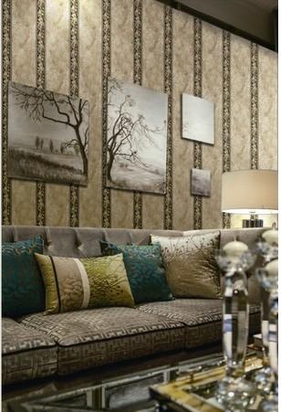 欧式无纺布墙纸有图案客厅照片墙墙贴纸卧室温馨电视机背景墙壁纸