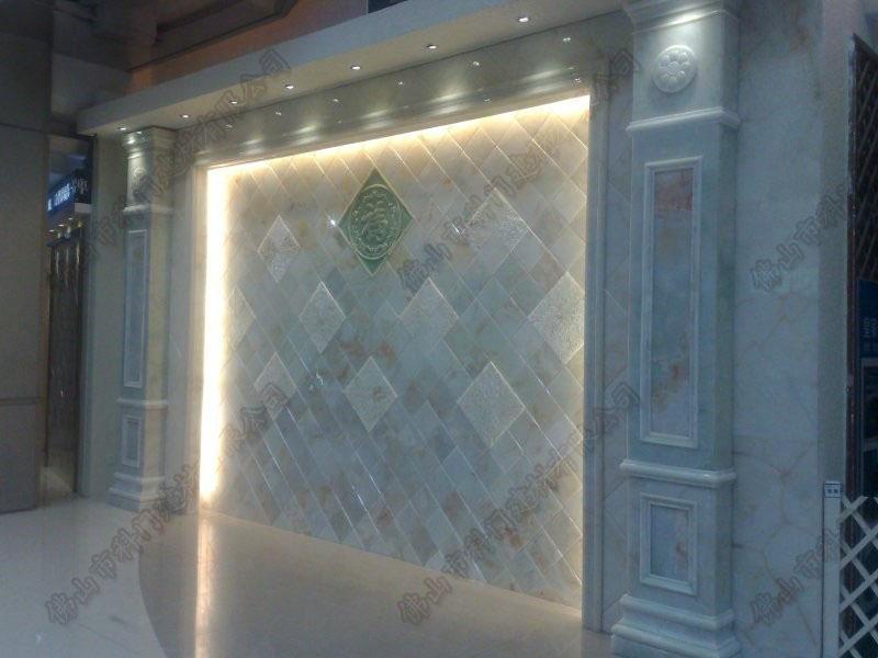 仿玉石罗马柱微晶石欧式配件背景墙厂家直销
