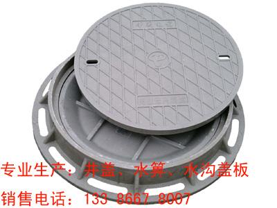 Φ750x40双层井盖复合窨井盖树脂检查井盖电力电信井盖雨污水图片
