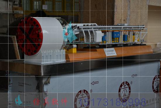 加盟盾构机展示模型机械模型剖面结构图纸