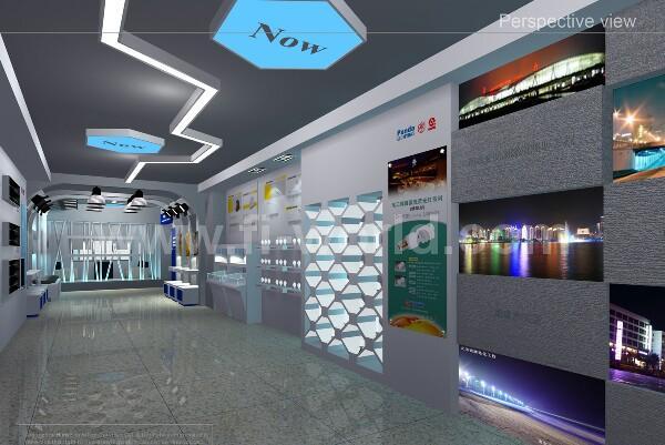 中电熊猫照明展厅设计.led照明展厅设计装修