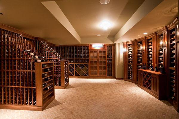 古典豪华风格酒窖私人别墅酒窖定做