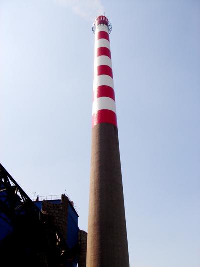 东方砖烟筒维修加固、东方水泥烟囱爬梯安装HJ128