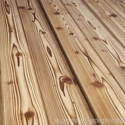烧炭烧碳化木板装饰板材吊顶背景墙板护墙-木板 木板价格 木板厂家