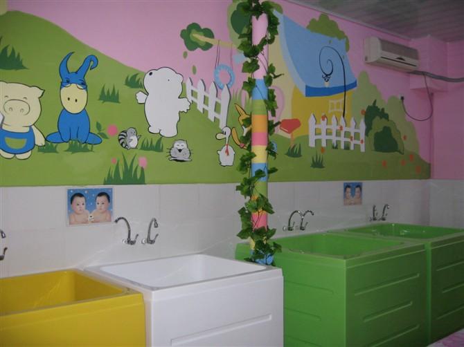 园林景观墙壁手绘