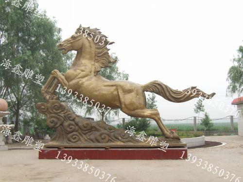 奔马雕塑,黄铜马雕塑,铜马雕塑,动物雕塑