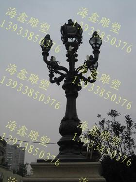 欧式路灯,铸铁路灯,景观灯雕塑