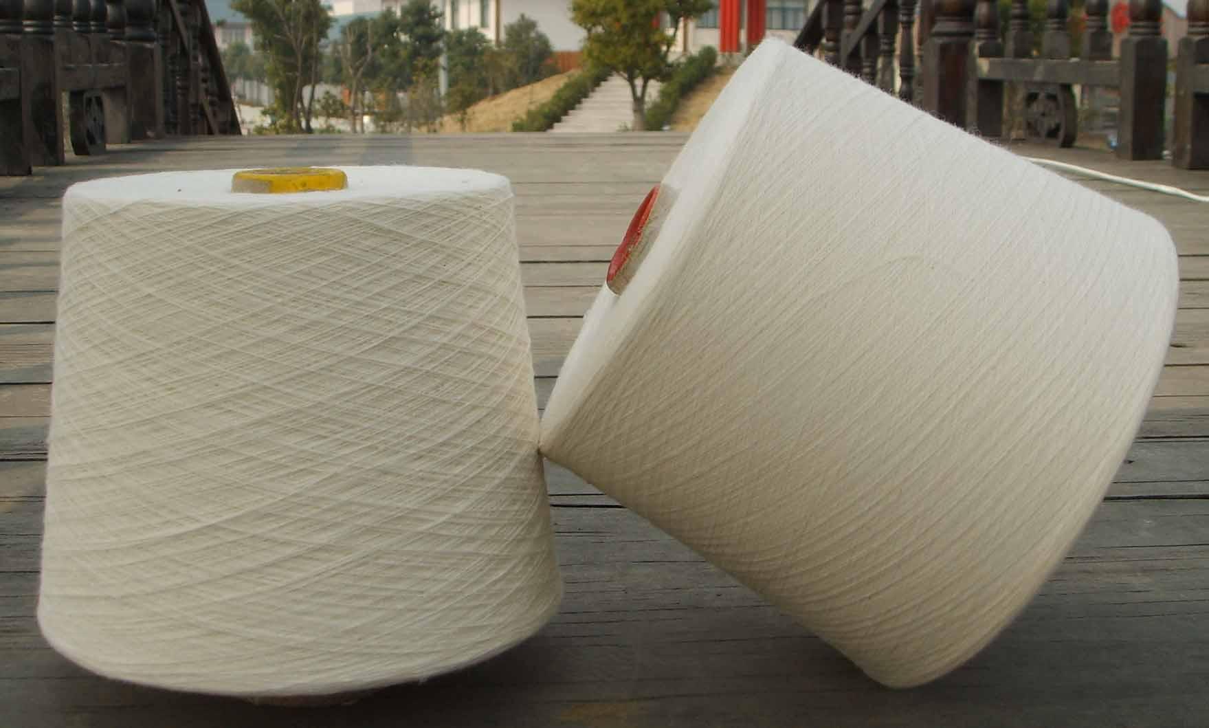 厂家生产仿大化涤纶纱21支 纯涤21支仿大化杰森纱线