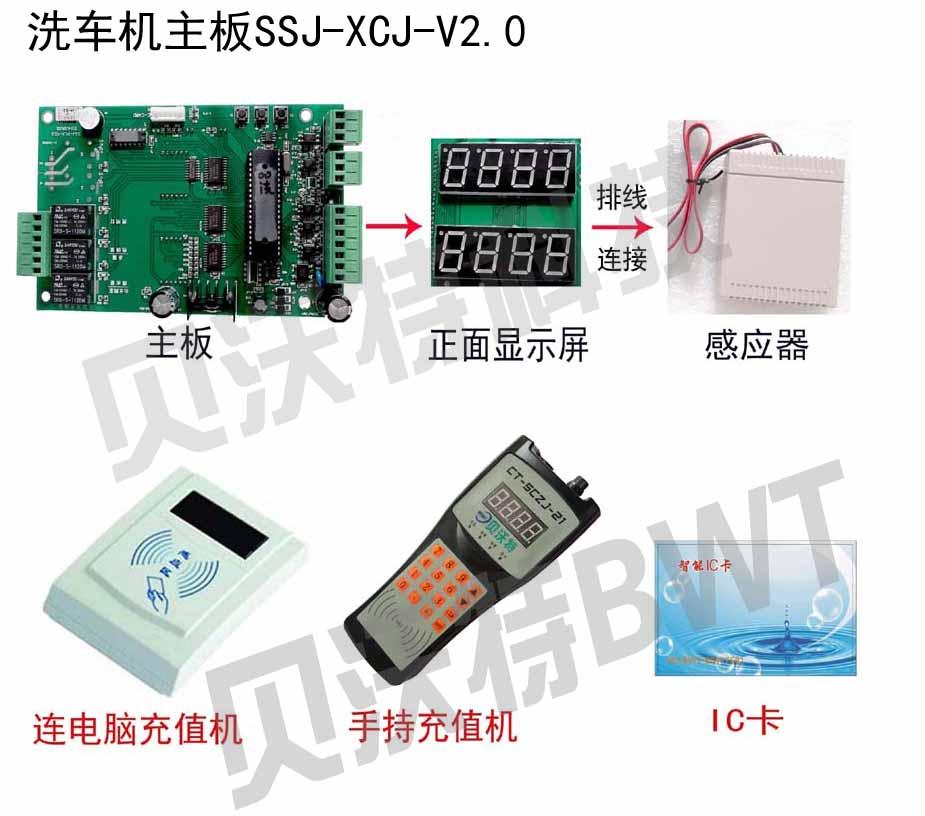 0控制板用于自动洗车机,采用高档进口微处理器芯片作为控制电路核心