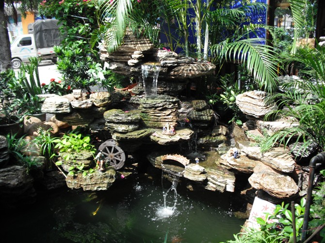 深圳假山鱼池设计,精心设计,优质服务.