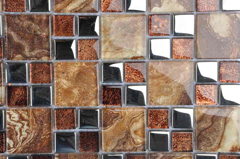 金属夹胶 玻璃马赛克 电视背景墙 欧式