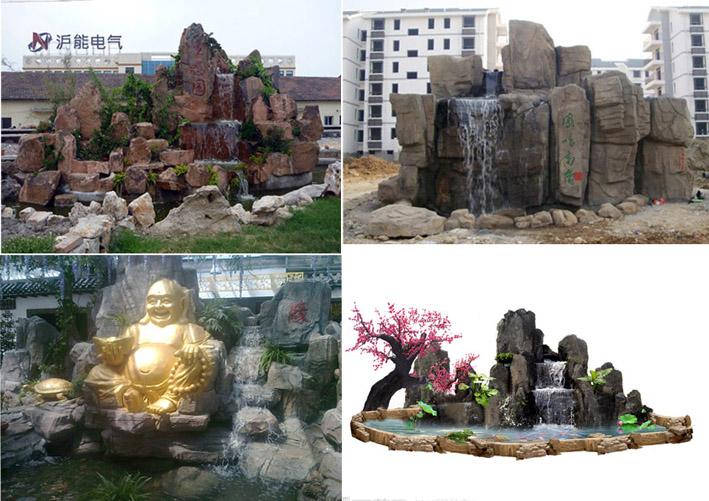 佳木斯枫叶园林景观雕塑有限公司承接:假山鱼池室内外