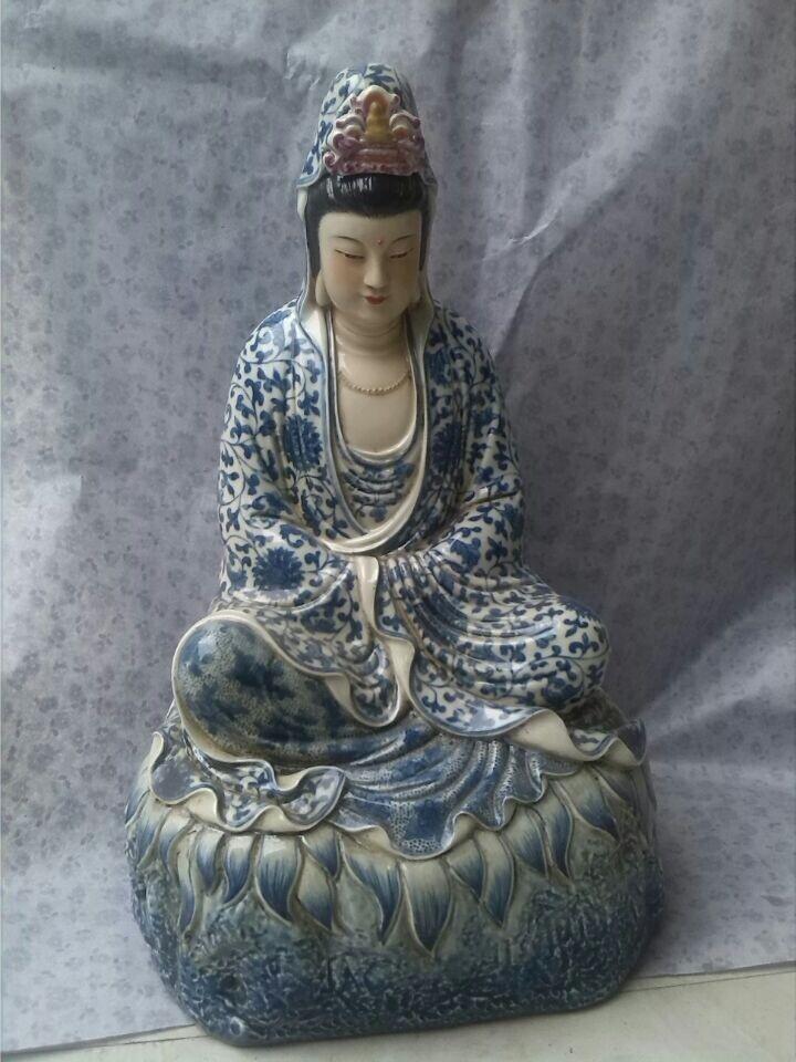 陶瓷财神定做、各种陶瓷观音定做