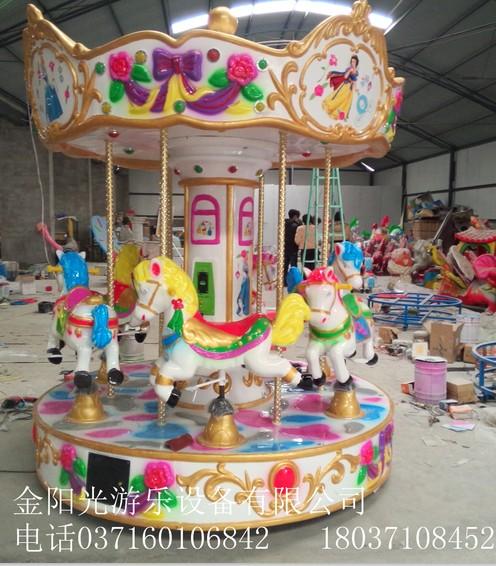 6座豪华转马儿童投币可移动起伏转马电动游乐场室内游乐设备