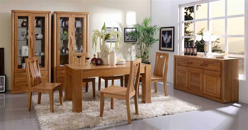 俄罗斯榆木餐桌实木家具老榆木餐桌简约现代实木餐桌一桌四椅包邮