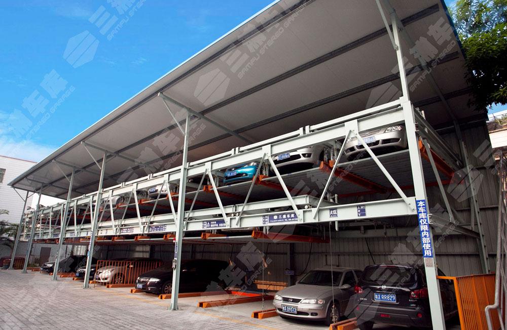 三浦车库:地下室停车位三层立体车库