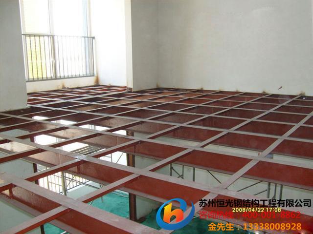 苏州钢结构阁楼、苏州安全护栏、苏州钢木结构5米跨度阁楼
