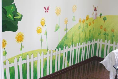 家庭墙绘墙画 家装墙体彩绘 成都家居手绘墙