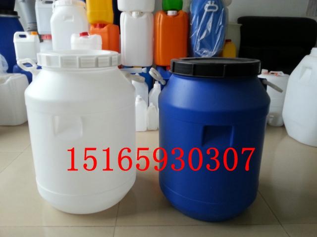50公斤螺旋广口塑料桶、50L化工塑料桶