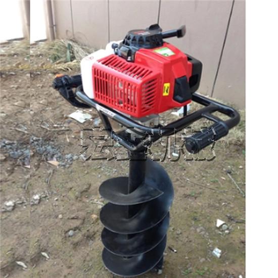 手提植树挖坑机施肥钻坑机生产大马力悬挂挖坑机