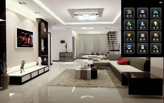 平板控制无线智能家居:指纹,可和智能机械手,家居场景,360度旋转图片