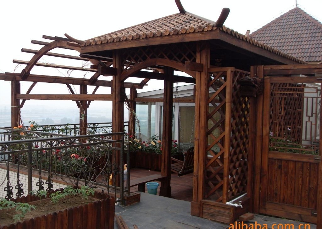 俄罗斯,格,防腐木制品,钢木结构,木结构房屋,木结构别墅,防腐木桥,木