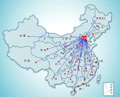 中国地图放大全国