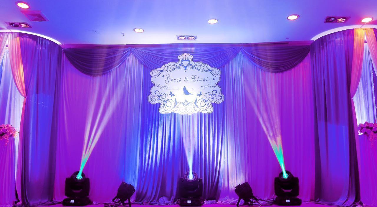 婚庆等场景布置,舞台桁架搭建,音响,灯光;布缦造型,各类桁架喷绘,kt板